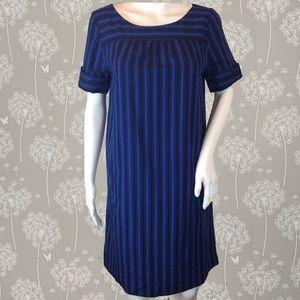 Anthro HD in Paris Dress Size 4 Blue Striped